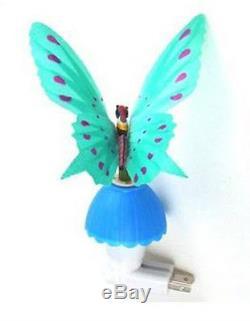 Fibre Optique Papillon Led Lampe De Nuit Lampe À Lumière Changeante Bleu