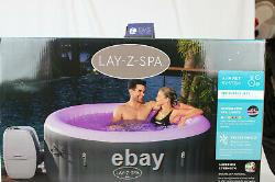 Flambant Neuf Lay Z Spa Bali Led Lights 4 Personne Inflatable Hot Tub 2021 Bnib