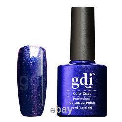 Gamme Gdi Fine Glitter/shimmer R24 Ocean's Secrets Uv/led Gel Nail Polonais