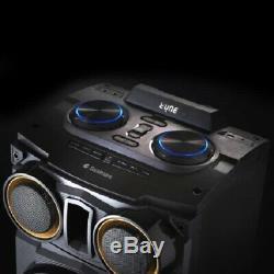 Goodmans 500w XL Mega Président Bluetooth Activé Changement De Couleur Led-télécommande Et Micro