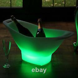 Grand Seau De Glace Led, Léger Vin De Champagne Couleur Refroidisseur Changer Par Pk Vert