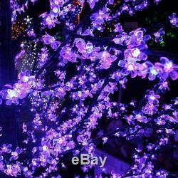 Grande Couleur 3m Changement Rouge Et Bleu Cerisier Avec 5376 Arbre De Noël Led