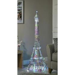 Grande Tour Eiffel Lampadaire Iridescent 120 Led Changeant De Couleur Home Décor Lux