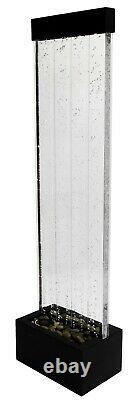 H150cm Mur D'eau Bulle Avec Changement De Couleur Leds À L'intérieur Utilisation Par Fluide