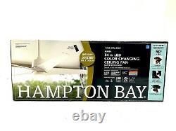 Hampton Bay Mara Ceiling Fan 54. Couleur Changeant Led À L'intérieur/extérieur, Blanc