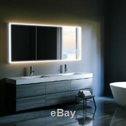 Hib Qubic 120 Changement De Couleur Led Cabinet Miroir Rrp £ 613 Dommages Voir La Description