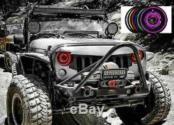 Hid Changement De Couleur Rgb Angel Eyes Tête Lumières Jeep Wrangler Jk