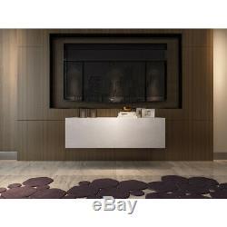 High Gloss Led Cabinet Armoire Enfilade 2/3/4 Portes Tiroirs De Rangement Blanc Noir