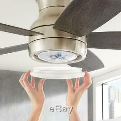 Home Decorators Ashby Parc 52 Changement De Couleur Led Nickel Brossé Ventilateur Au Plafond