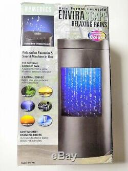 Homedics Envirascape Relaxant Pluies Fontaine Rain Forest Wrf-neuf Rel