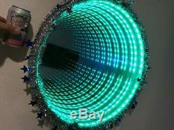 Infinity Miroir Changement De Couleur Led Avec Télécommande