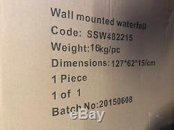 Intérieur / Extérieur Mur Caractéristique De Chute D'eau Avec La Couleur Led À Distance Lumières Changeantes