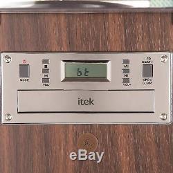 Itek Floorstanding Bt Jukebox Avec Lecteur De Disques, Affichage À Led À Changement De Couleur