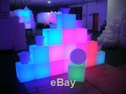 Joblot De 40 X Light Up Led, Chaise De Siège Avec Siège En Forme De Cube, Couleur Changeante