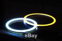 Kawasaki Zx14 Zx14r 2006-2019 Color Changing Plasma Halo Quad Angel Eye W À Distance