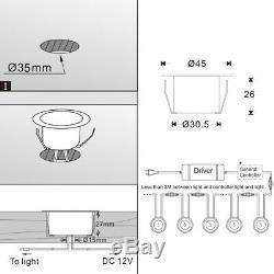La Couleur De 45mm Rvb Changeant Le Socle De Decking De Led Allume Le Jardin Deck Diy Allumant 12v