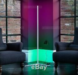 La Couleur Rue Changement De La Lampe Led Minimaliste Angle Plancher Blanc (à Distance)