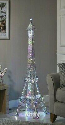 Lampe De Plancher De Tour Eiffel Avec 112 Led Changeantes De Couleur