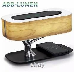 Lampe De Table Led Moderne Chambre À Coucher Dimmable Bluetooth Haut-parleur Charge Sans Fil