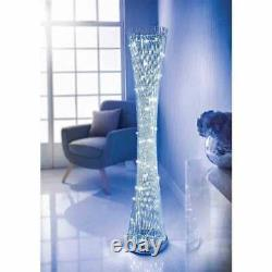 Lampe Lumineuse De Plancher En Spirale De Spirale De Led Changeante De Couleur D'aluminium
