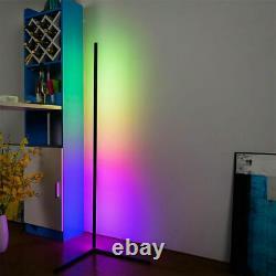 Lampe Murale De Plancher D'angle De Led En Métal Changeant De Couleur D'éclairage De Rgb Avec La Télécommande A
