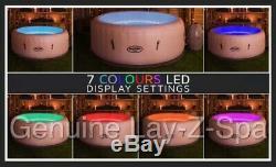 Lay Z Spa Lazy Spa Miami Airjet Spa Avec Éclairage Led Pour 4 Adultes