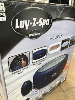 Lay Z Spa New York, Hot Jacuzzi Avec Construit En Lumières Led. + Kit De Nettoyage