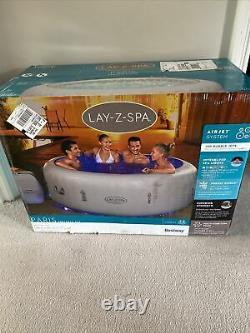 Lay Z Spa Paris 2021 6 Personnes Hot Tub Nouveau Avec Lumières Led & Floor Protector Inc