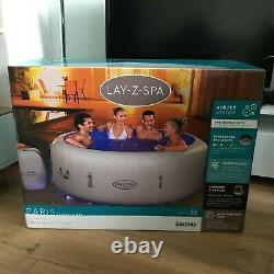 Lay Z Spa Paris 6 Personnes Hot Tub 2021 Nouveau Avec Lumières Led Et Garantie De 2 Ans
