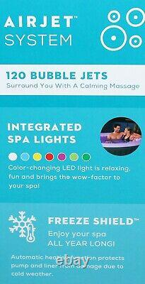 Lay-z-spa 4 Personnes Led Lights Hot-tub Bali Airjet 2021 Uk Freeze Shield Nouveau