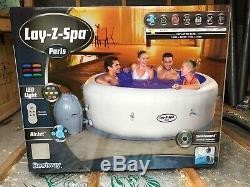 Lay-z-spa Paris 6 Personnes Led (bain À Remous)