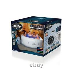 Lay-z-spa Paris Airjet Hot Tub Flambant Neuf Led Lights Uk Stock Livraison Gratuite