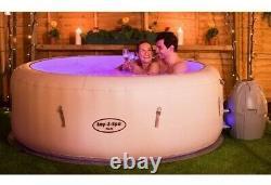 Lay-z-spa Paris Hot Tub Avec Lumières Led, Airjet Gonflable, 4-6 Personnes