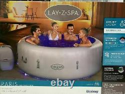 Lazy Spa Paris 4-6 Personne De Luxe Gonflable Bain À Remous Massage Air Jets Led Lumières