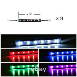 Le Kit D'éclairage 10 Comprend Un Kit D'éclairage De Compartiment Moteur Ou Sous-baie Led Multicolore Avec Une Télécommande