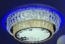 Led Changeant De Couleur Au Plafond Lustre En Cristal Lumière Du Jour Blanc Chaud Bleu