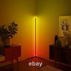 Led Corner Floor Lamp 16m Rgb Colours Black Uk Next Day Livraison