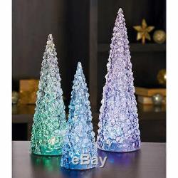 Led De Vacances De Noël Les Arbres, Ensemble De 3 Lumières En Acrylique Couleur Décoration Changements