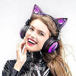 Led Haute Fonction Sans Fil Cat Oreille Couleur Changement Axent Usure Bluetoot