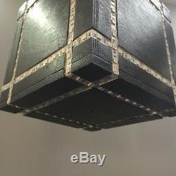 Led Light Cube Grand Plafond Lumière Multi Color Changement À Distance De Contrôle Moderne