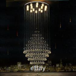 Led Lumières Cristal Plafonnier Lustre D'escalier Appareils D'éclairage Lampe Suspendue