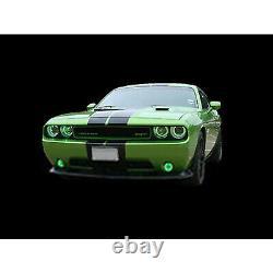 Led Multi-couleurs Rvb Halo Anneau Headlamp Bluetooth Ensemble Pour 08-14 Dodge Challenger