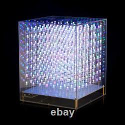 Led Rgb Cube 8x8x8 3d Full Color Diy Kit/ Finished Music Spectrum Sound Control
