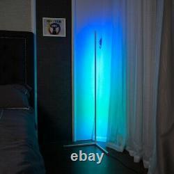 Led Rgb D'angle De La Lampe D'éclairage Changeant De Couleur À Distance Ou App Contrôlée Blanc