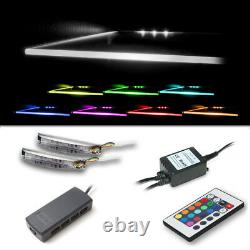 Led Rgb Glass Edge Clips Floating Cabinet Lights Colour Changing White Blue Rgb