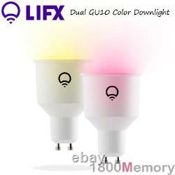 Lifx 2 Pack Gu10 Smart Color Downlight Led Down Light 16 Millions De Couleurs