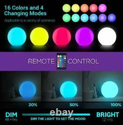 Loftek Led Light Up Ball 24-inch Rgb Couleur Changer Boule De Glow Avec Télécommande Co
