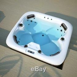 Luxe En Plein Air Whirlpool Bain À Remous Avec De L'ozone Chauffe-led Pour 4 Personnes Spa Piscine