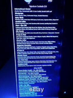 Menu Led Twilight Menu Tout Personnalisé Led Multi Changement De Couleur 5,5 X 11,5