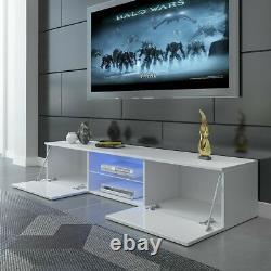 Moderne 160cm Tv Unit Cabinet Tv Stand Cabinet Matt Body & High Gloss Doors Led
